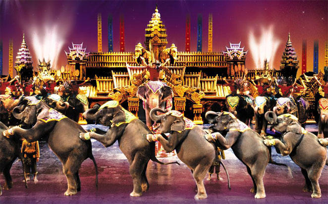 Phuket Fantasea Show, with round trip transfer for two 2019