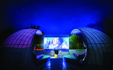 Private Movie Under the Stars with Bubbles